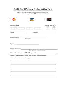 Credit Card On File Form Template Authorization Form Template Masir