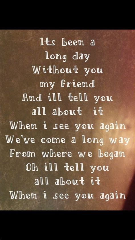 charlie puth when i see you again lyrics the 25 best see you again lyrics ideas on pinterest wiz