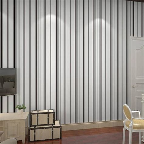 bedroom wallpaper in black white and gray one wall free shipping non woven wallpaper black and white vertical