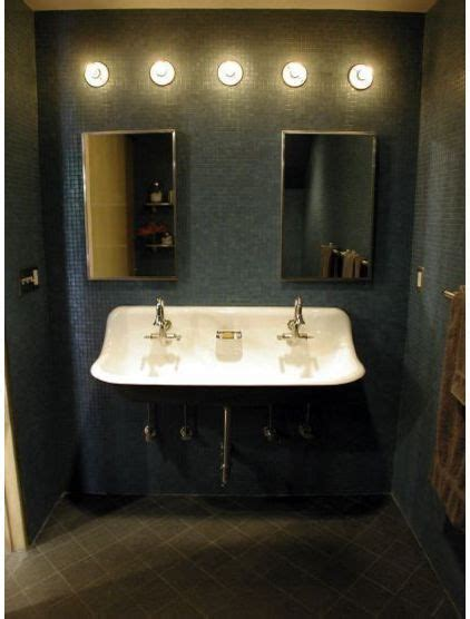 industrial bathroom sink small floating double sink image new flat pinterest