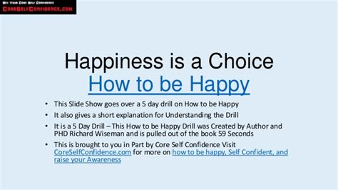 how to be an how to be happy