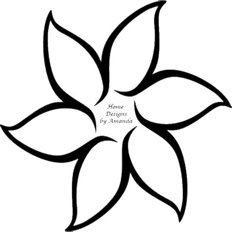 pictures of flowers to trace clipart best