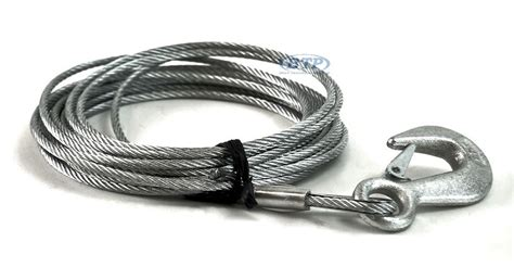 galvanized boat winch boat trailer winch cable galvanized 3 16in x 25ft with hook