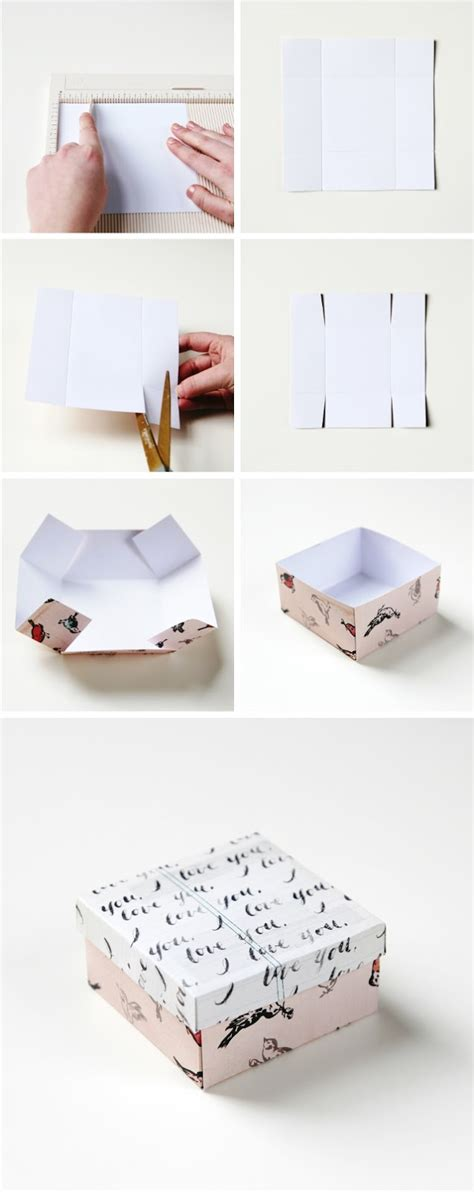 How To Make A Gift Box Out Of Paper - simple diy gift box gathering