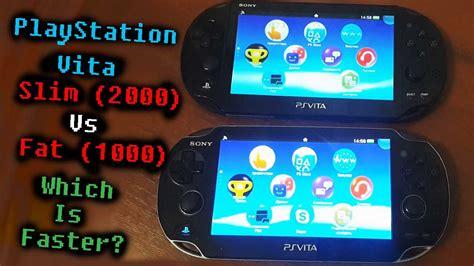 Ps Vita Pch 2000 Vs 1000 - ps vita slim 2000 vs ps vita fat 1000 which is faster comparison test youtube