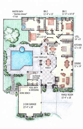 house plans with swimming pools fascinating house plans with indoor swimming pool