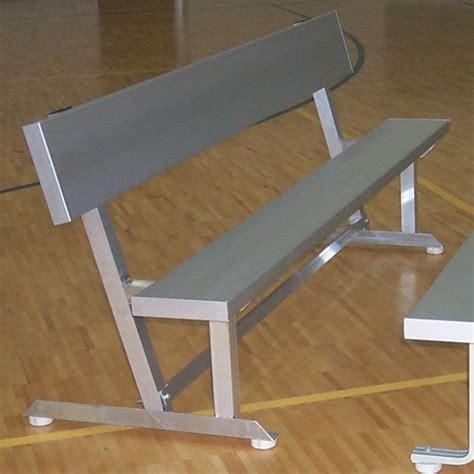 8 Foot Indoor Bench by Aluminum Bench With Backrest Indoor 6 Ft