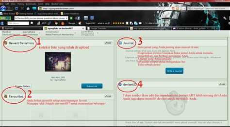 fungsi layout dan reset fungsi dan penjelasan layout profil di deviantart com