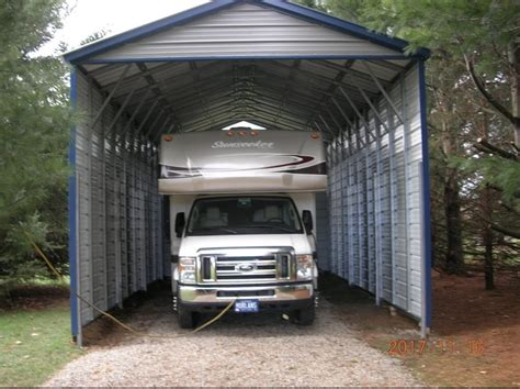 Rv Carports by Rv Steel Carport In Schoolcraft Michigan Midwest Steel