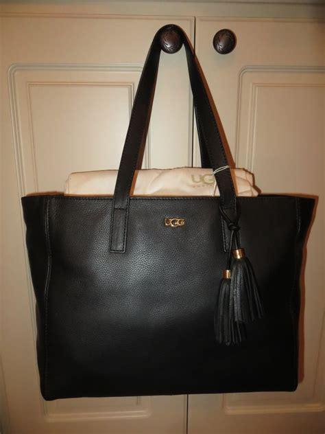 Tote Bag Blacu Costum Tote Bag Blacu ugg australia black leather tassel large shopping tote bag purse nwt ebay