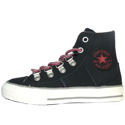 converse black and pink leather sneaker boots