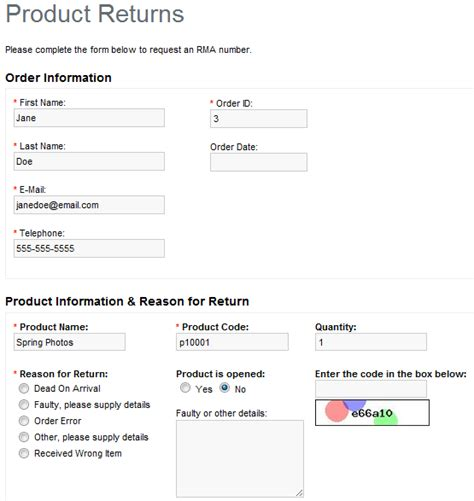 Sle Letter For Product Return Store Mantis Documentation
