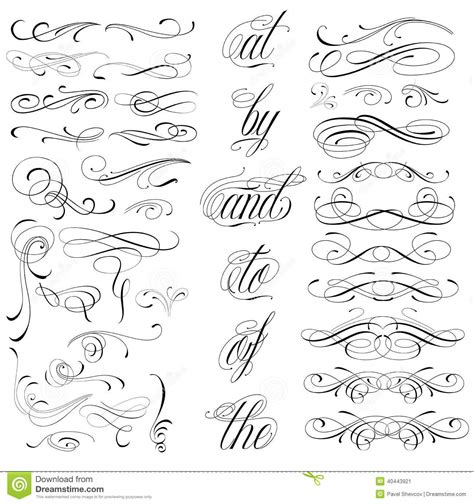 Handmade Lettering - elements stock vector illustration of frame