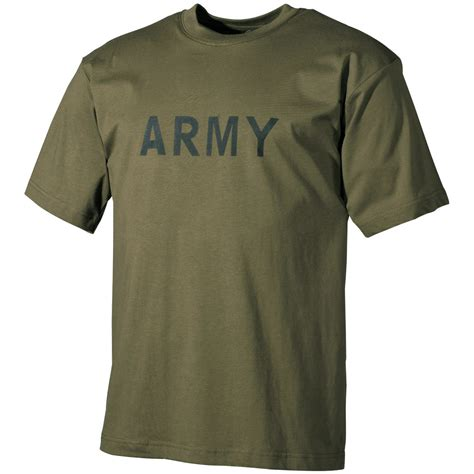 mens t shirt combat cadet top with army print logo cotton olive od ebay