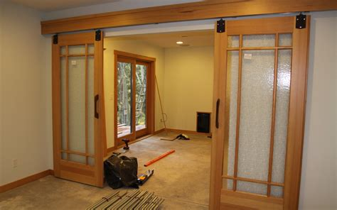 How To Decorate A Sliding Glass Door With Curtains Spice Up Your Home With Interior Sliding Doors Ward Log Homes
