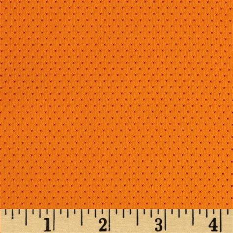 Stretch athletic mesh knit orange discount designer fabric fabric com