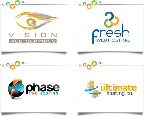 web layout logo web hosting logo design portfolio custom logo designs