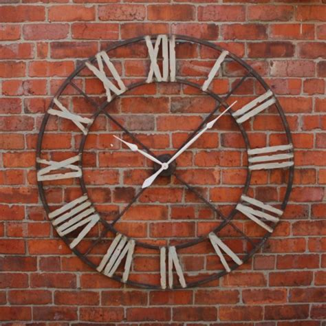 giant clocks large iron wall clock indoor roman numerals clock home