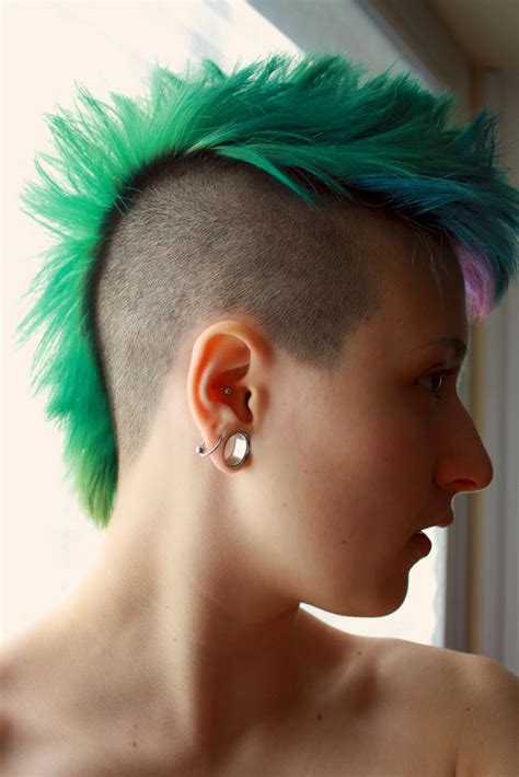 1000 images about coloured shaved and awesome hair on 17 best images about colored mohawks on pinterest shaved
