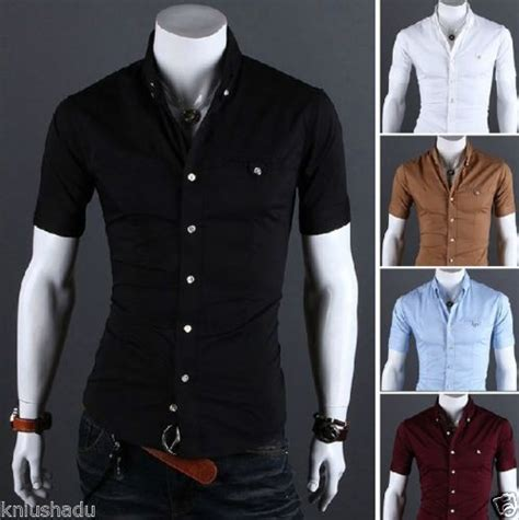 New Top Slim Shorto Camisas Slim Fit Hombre