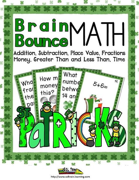 place value right left center game st patrick s day patrick o brian place values and math games on pinterest