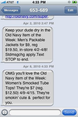 old navy coupons cell phone the y s choice old navy attempts the lingo