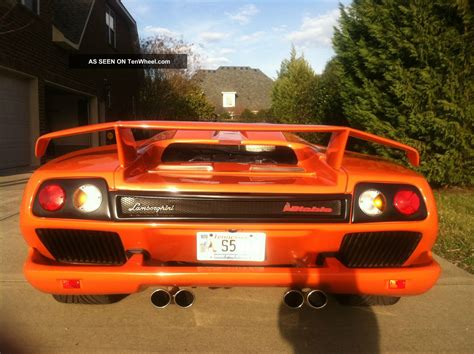 lamborghini diablo orange 2001 lamborghini diablo orange with white interior