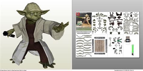 Yoda Papercraft - papercraft pdo file template for wars master yoda