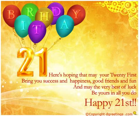 Happy 21st Birthday Wishes For Happy 21 Birthday Quotes Quotesgram
