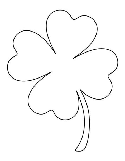 clover flower template pin by suatuoi traxanh on templates leaf