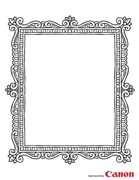 printable picture frames templates free coloring pages of frame