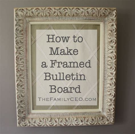 How To Make Decorative Cork Boards how to make a framed decorative bulletin board the