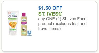 St Ives Printable Coupon 2017 st ives coupon 1 50 any one st ives product