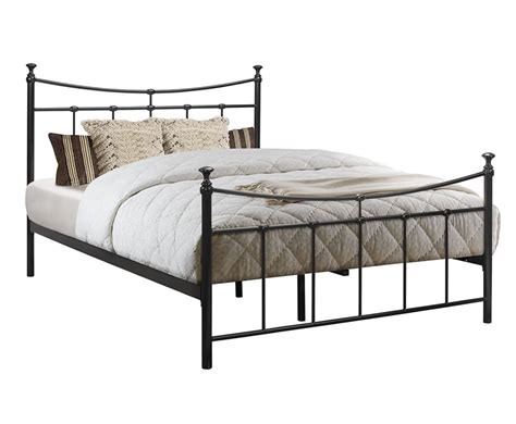 black metal beds robinson small double 4ft black metal bed