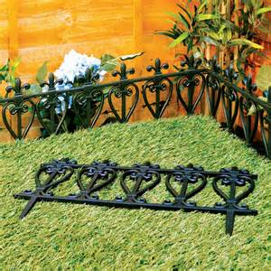 Landscape Edging Fence Style Black Fencing Garden Edging Ornate Fence