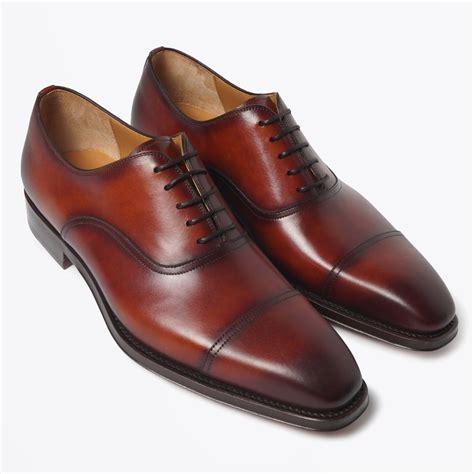 magnanni lace up shoe with toe cap cognac mr mrs