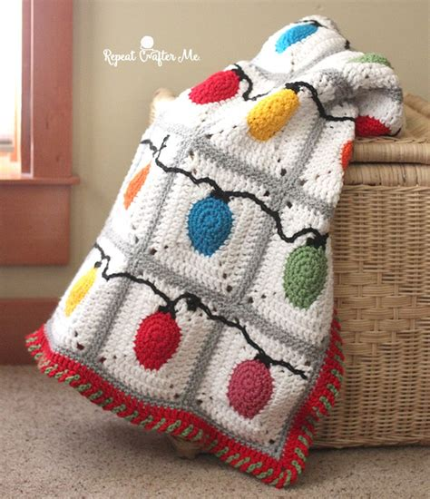 crochet christmas crafts crochet lights blanket free pattern allcrafts free crafts update