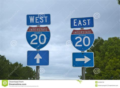 East West Mba Admission Result by Interstate Highway 20 East And West Entrance In Southeast