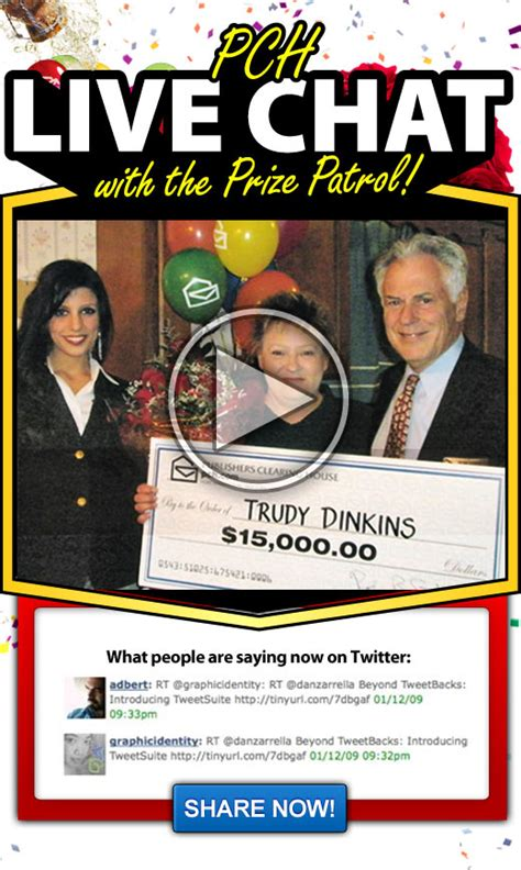 Pch Videos - first ever live video chat with the pch prize patrol pch blog
