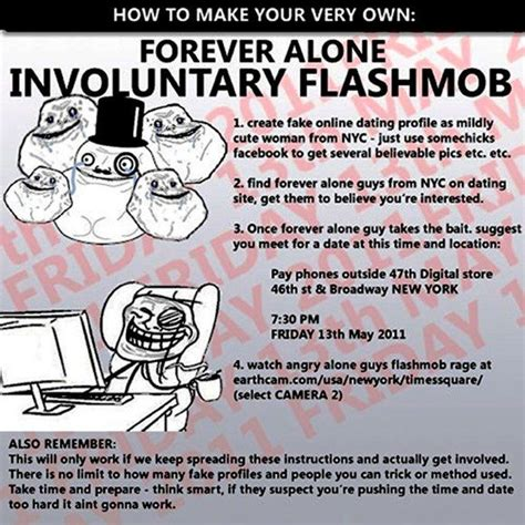 2011 Internet Prank Meme - forever alone guy involuntary flashmob bits and pieces