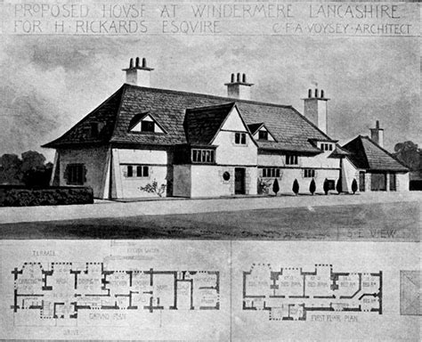 Country Floor Plans proposed house at windemere lancashire for h rickards