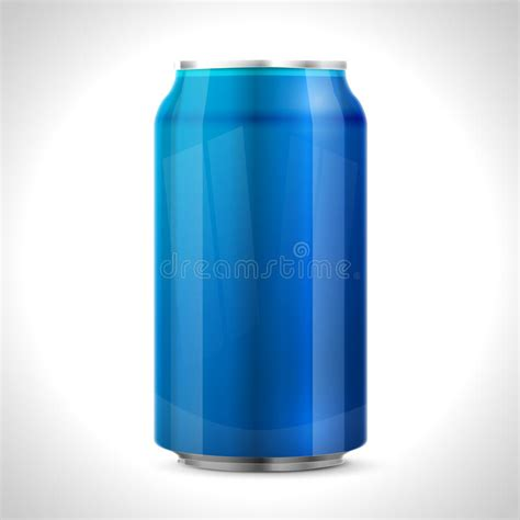 blue i can blue aluminum can stock vector image 46484539