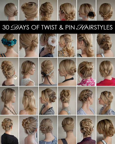 list of s hairstyles 30 days of twist pin hairstyles the hair romance ebook