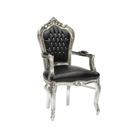 sedie stile barocco poltrona in stile barocco in legno ed ecopelle colore nero