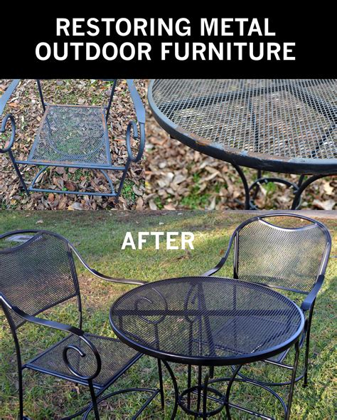 cleaning mesh lawn chairs restore metal outdoor furniture to quot like new quot