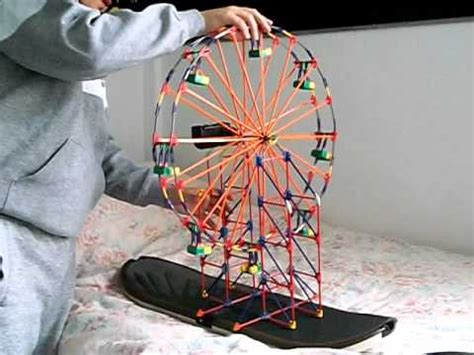 k nex light up ferris wheel drew s k nex ferris wheel roller coaster doovi