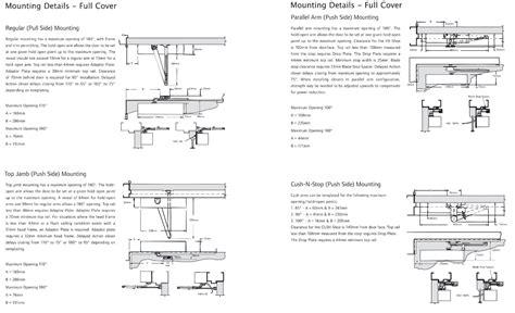 Door Closers Instructions Dynasty Hardware 4000 Alum Commercial Grade Door Closer Size 4 Lcn 1460 Template