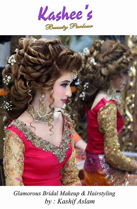 ideas of kashees makeup and hairstyle pictures for brides 2017