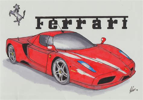 ferrari drawing drawings of ferrari enzo www imgkid com the image kid