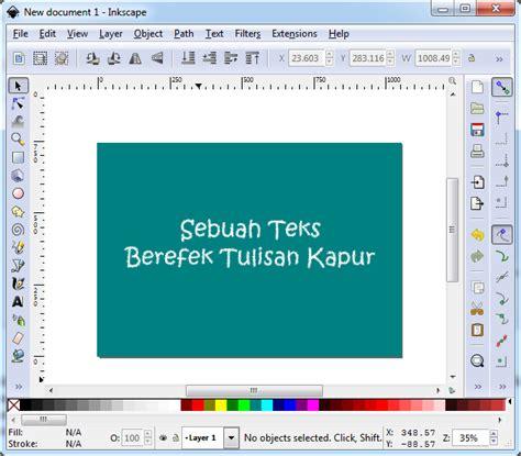 membuat tulisan kapur online cara membuat efek tulisan kapur di inkscape hiddenskills